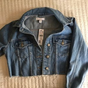 NWT topshop cropped jean jacket